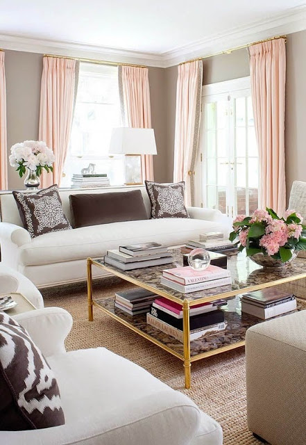 blush and brown decor