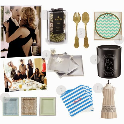 navy & orange gift guide: the hostess with the mostest