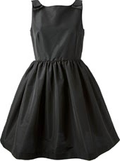 RED Valentino Faille Bow Shoulder Dress