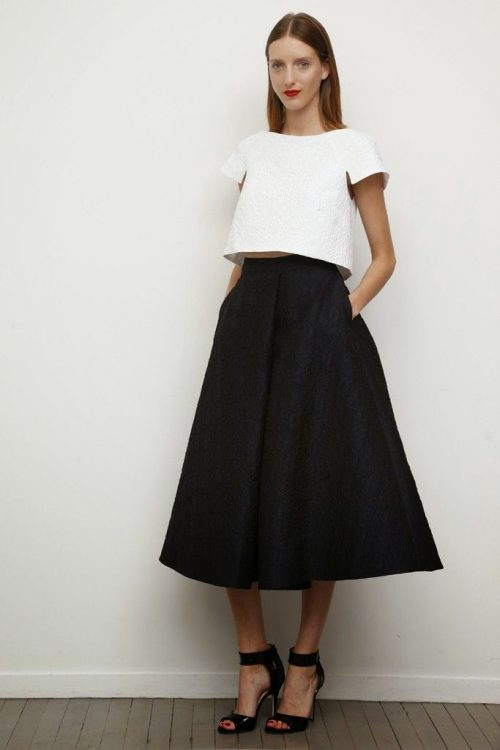 black full midi skirt