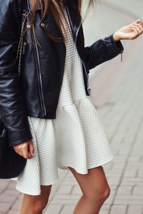 {faux} leather + white