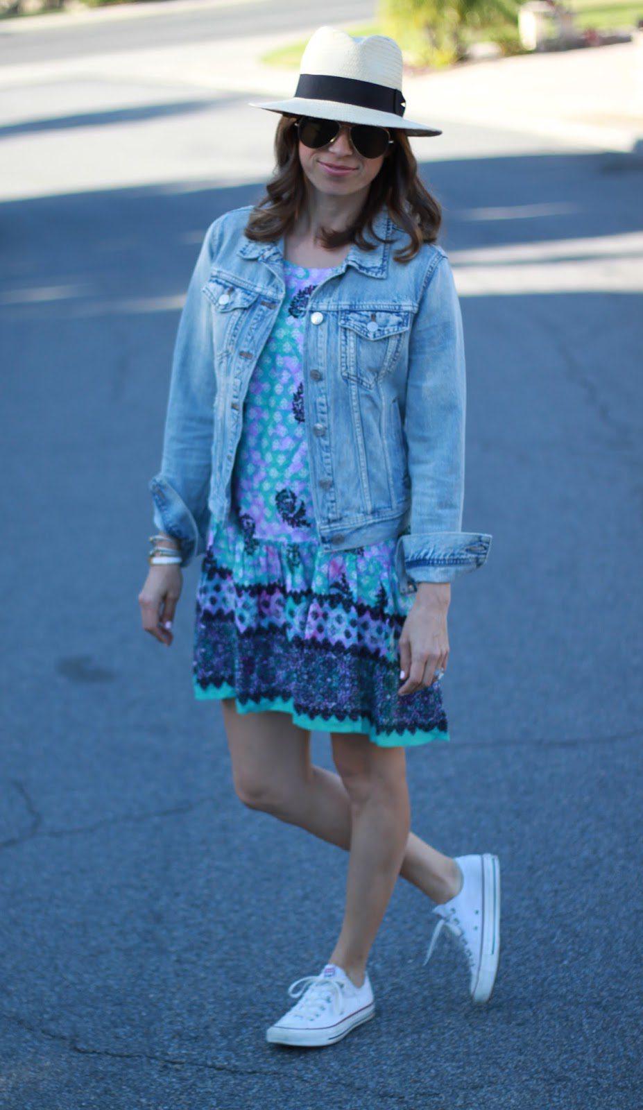 sundress and jean jacket