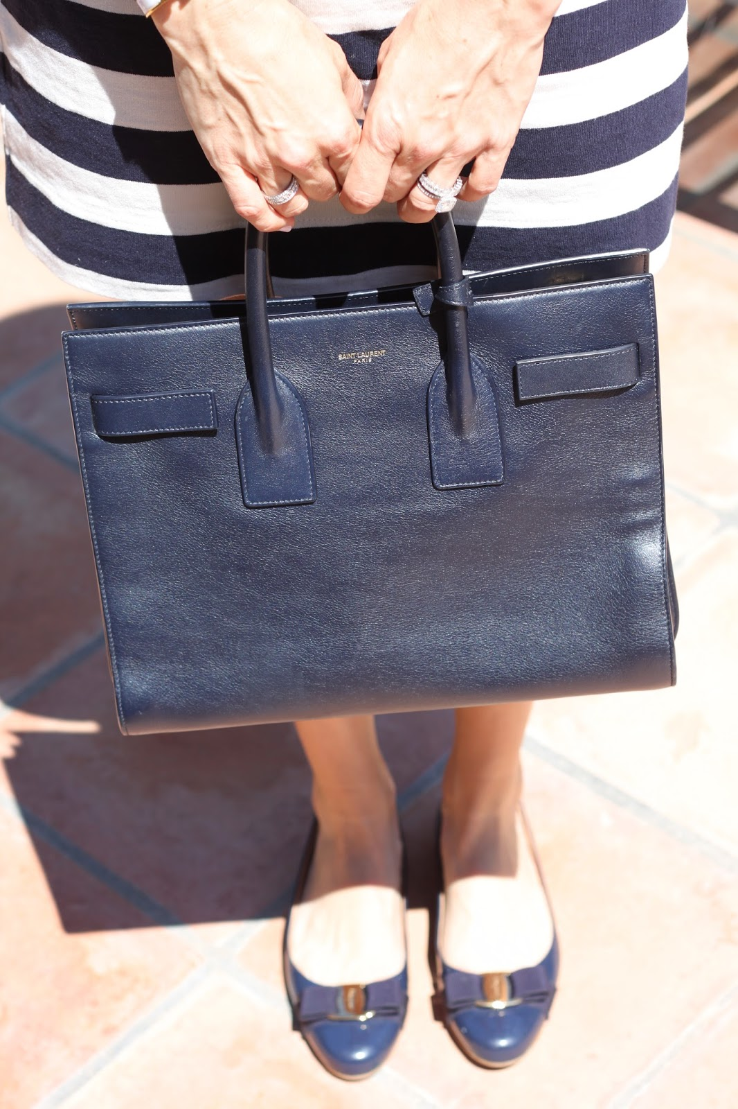 navy saint laurent bag