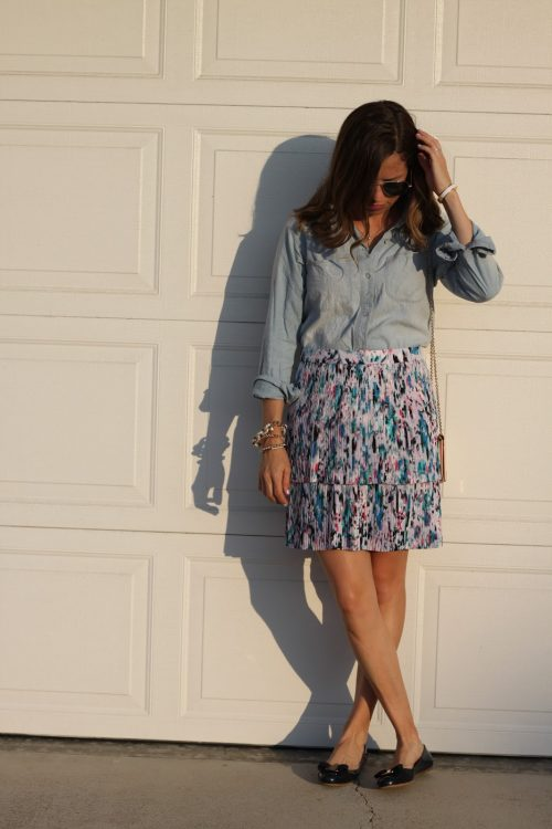floral pleated