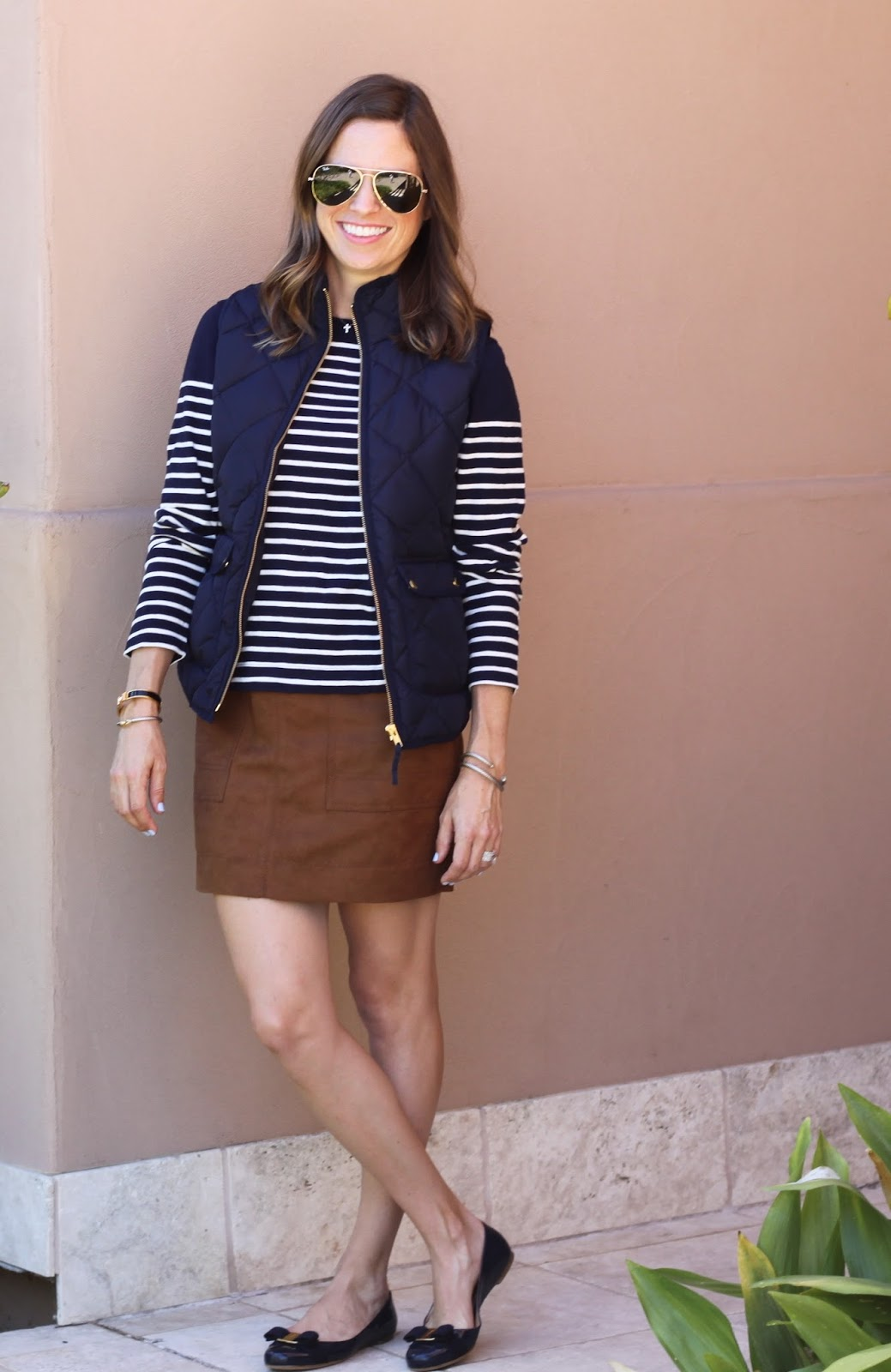 j.crew navy excursion vest