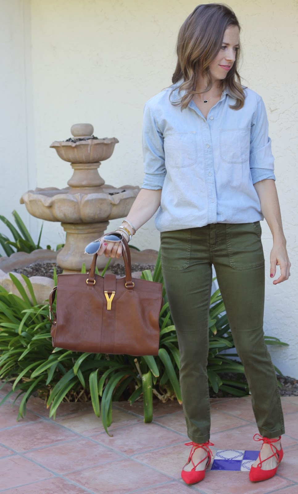 chambray outfit