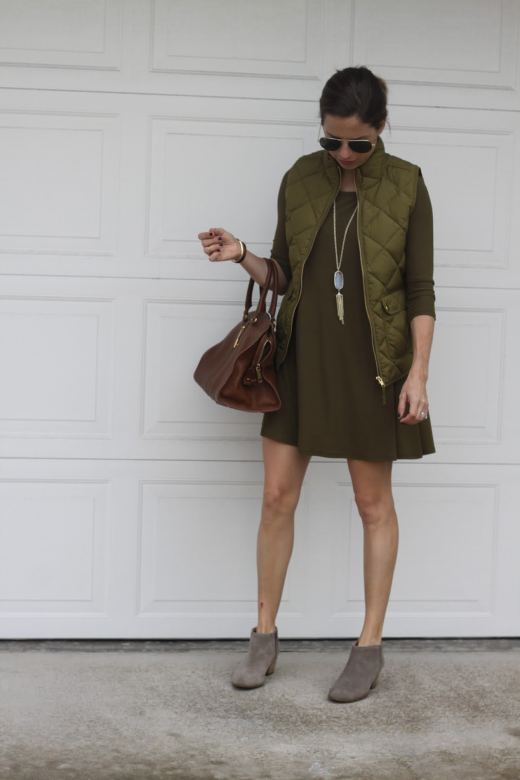 olive green fall outfit