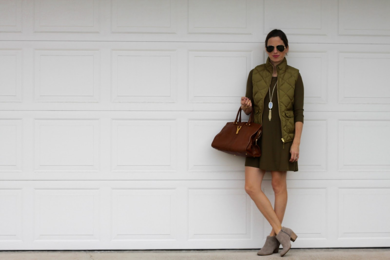 olive blogger outfit