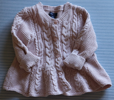 blush peplum cable knit sweater