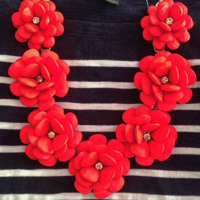 floral wreath necklace
