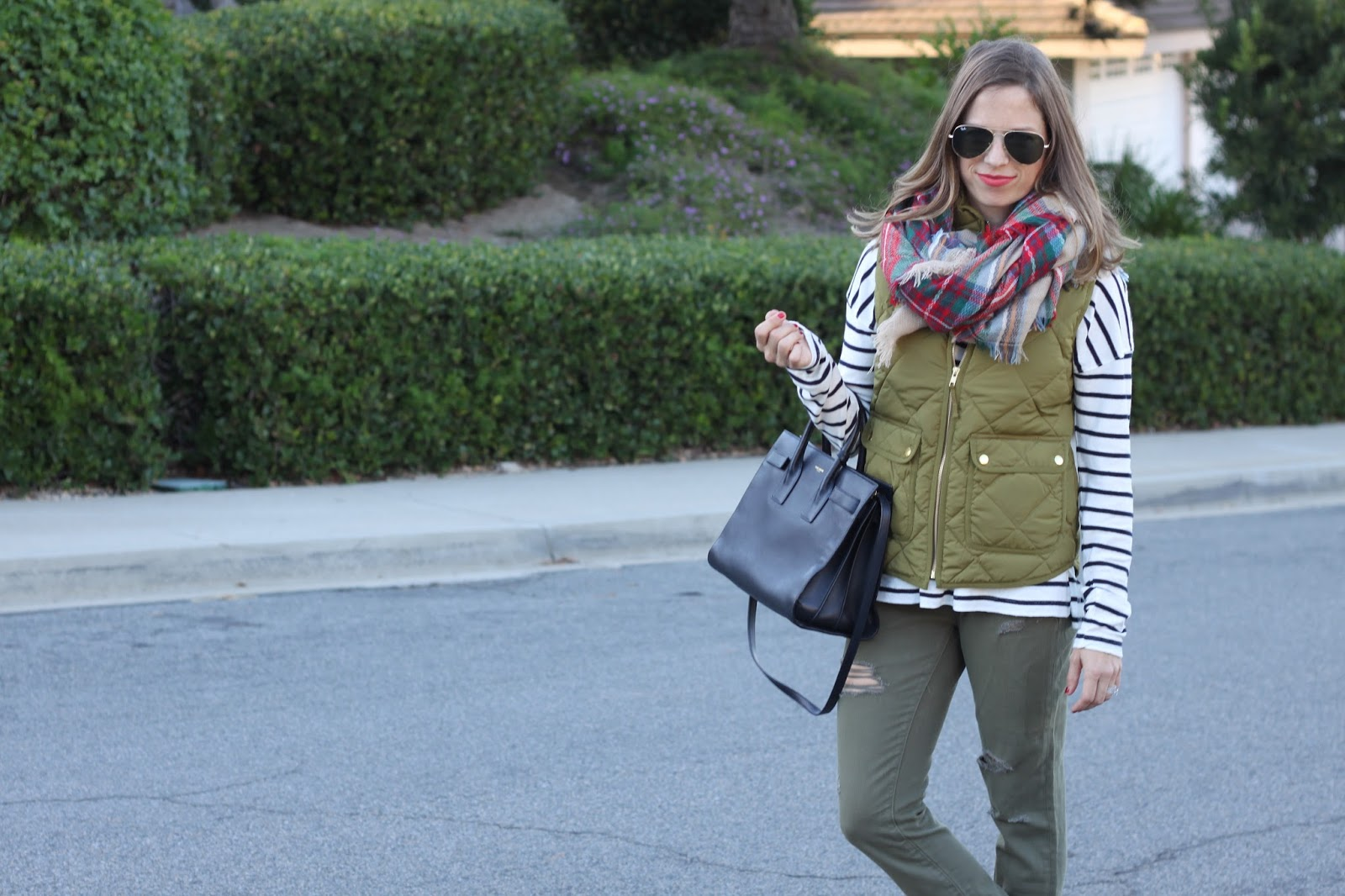 olive green outfit