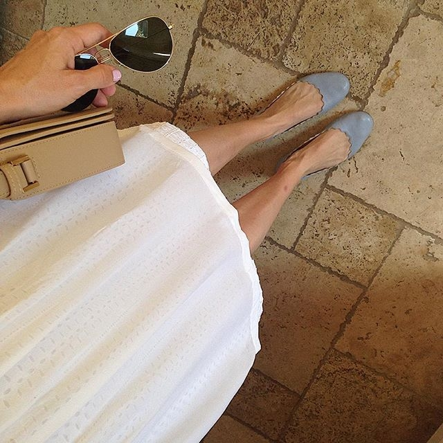 chloe scalloped flats selfie