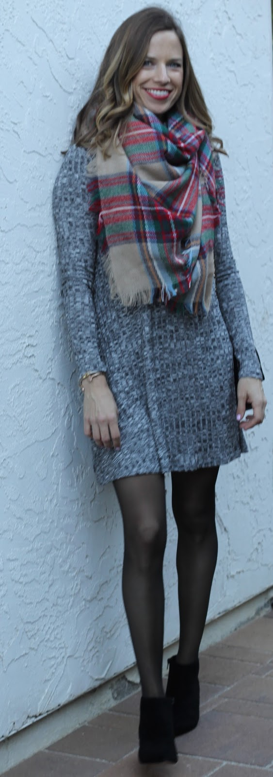 dress and booties outfit