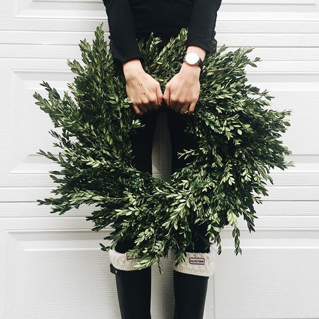 wreath and under boots