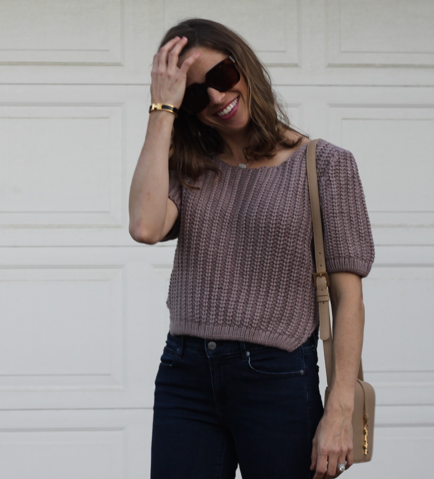 neutral cropped sweater