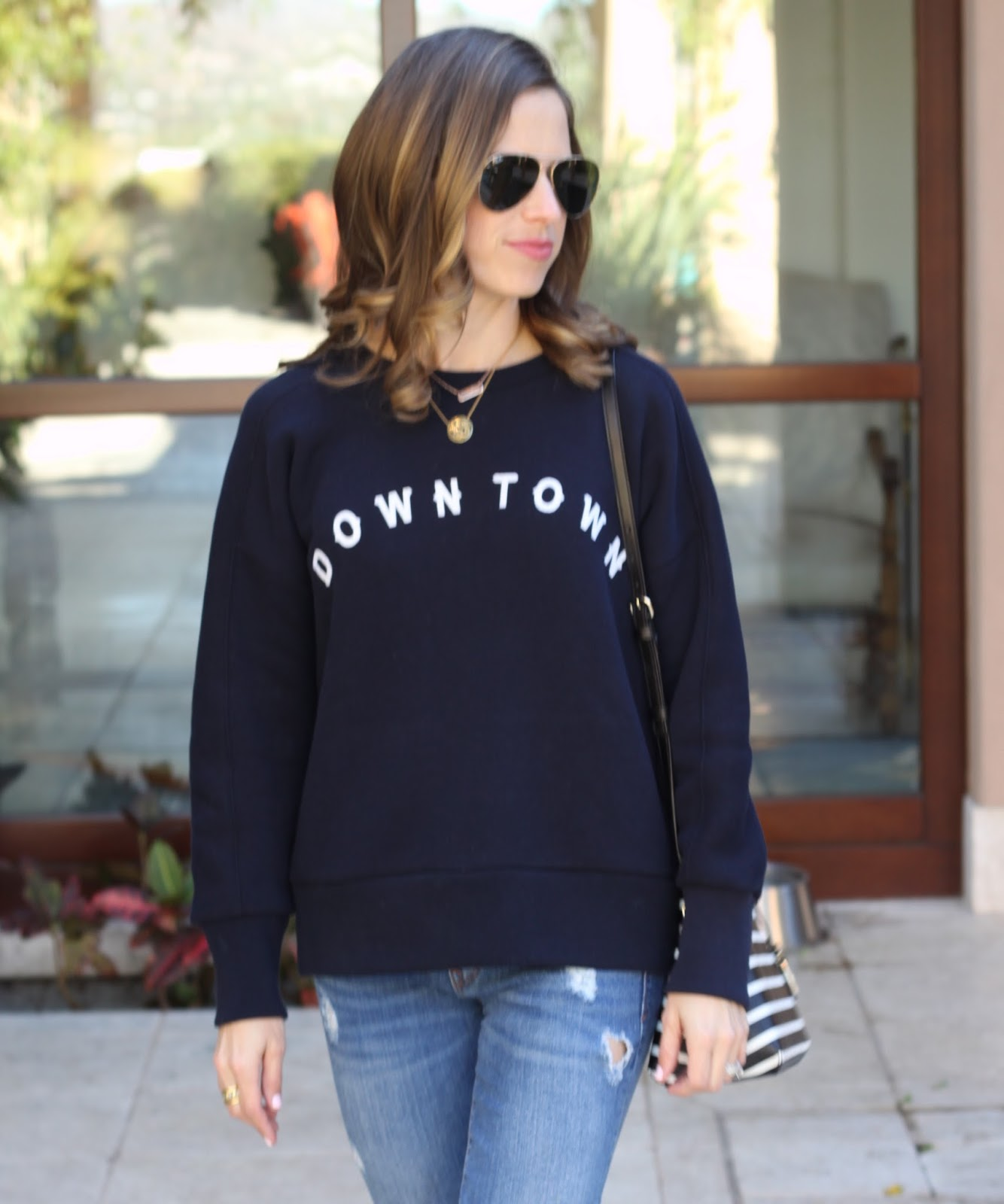 navy downtown sweatshirt