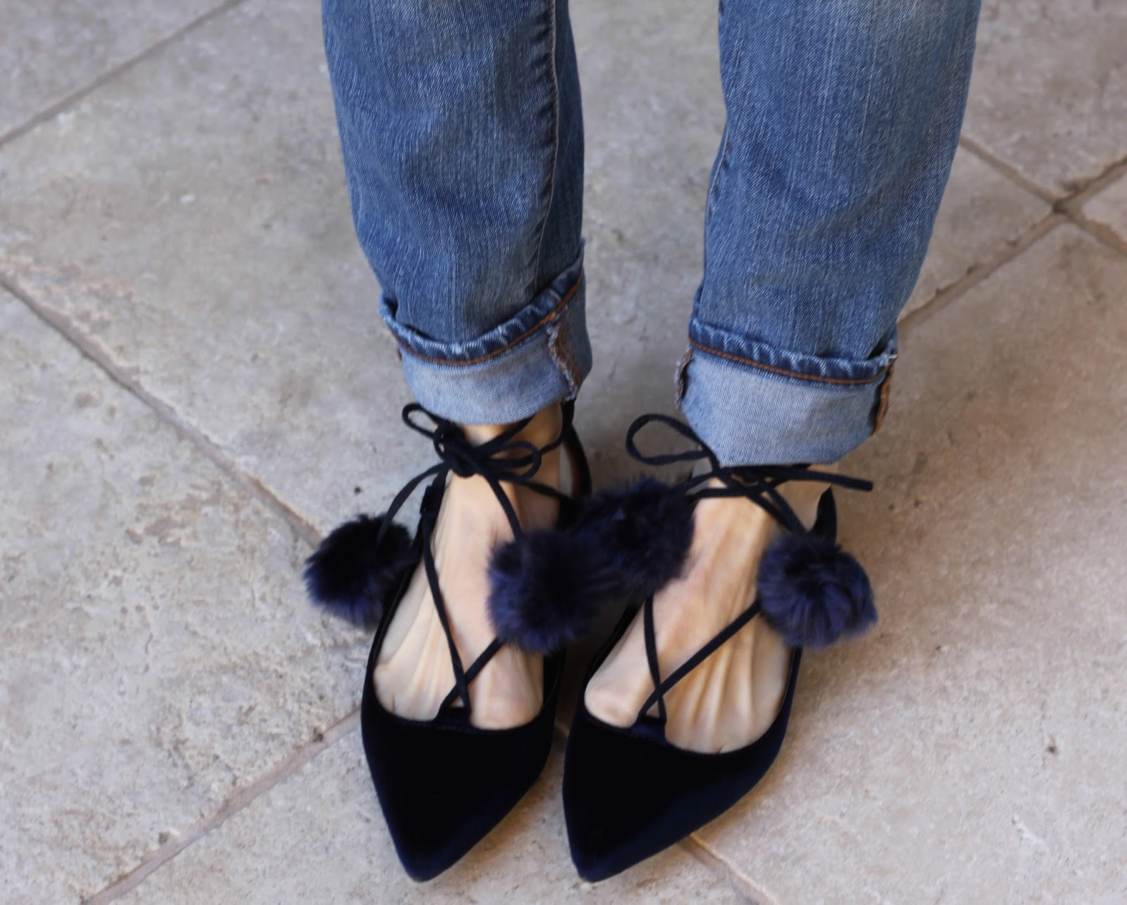 navy lace up flats