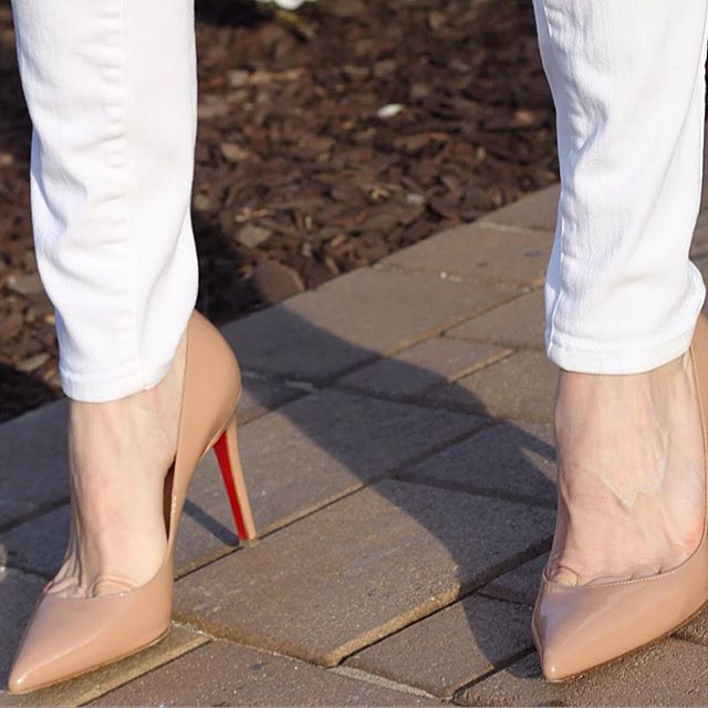 Nude Patent Louboutin Pigalle