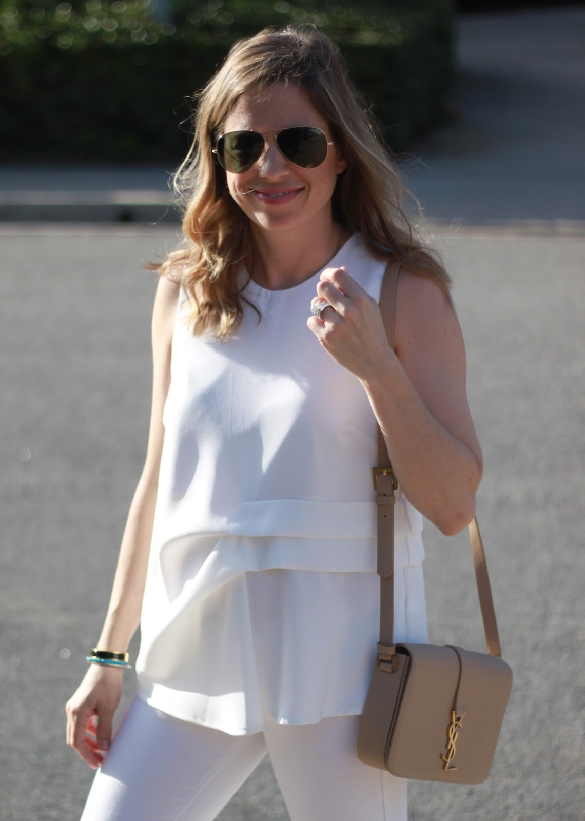 ray-bans  and white