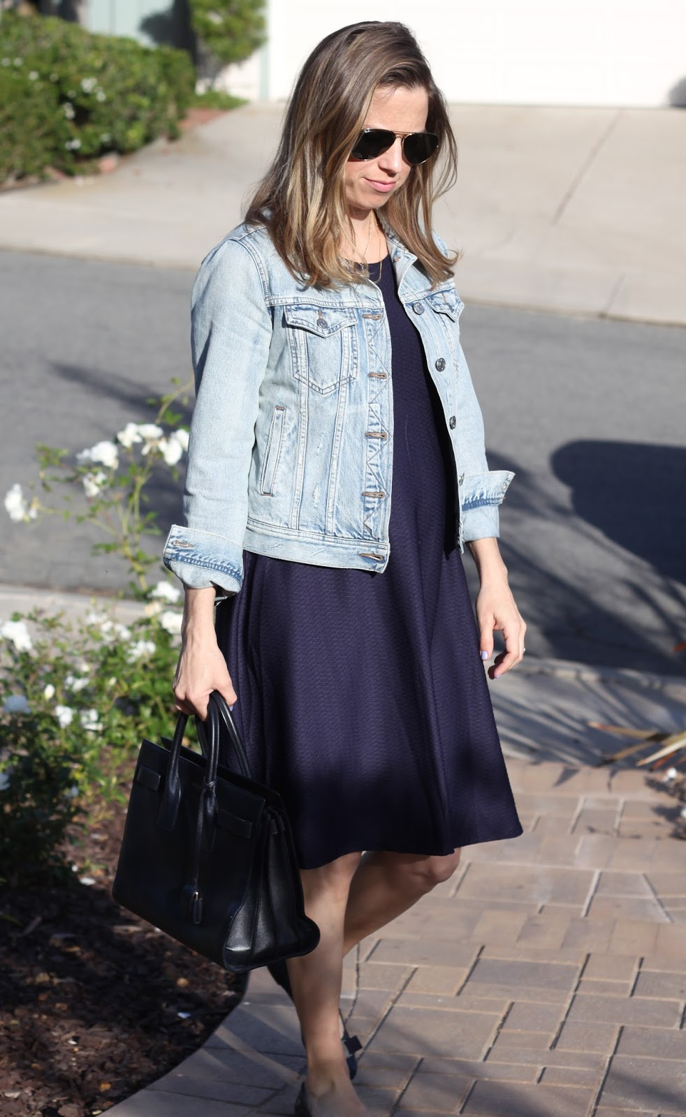 navy maternity outfit