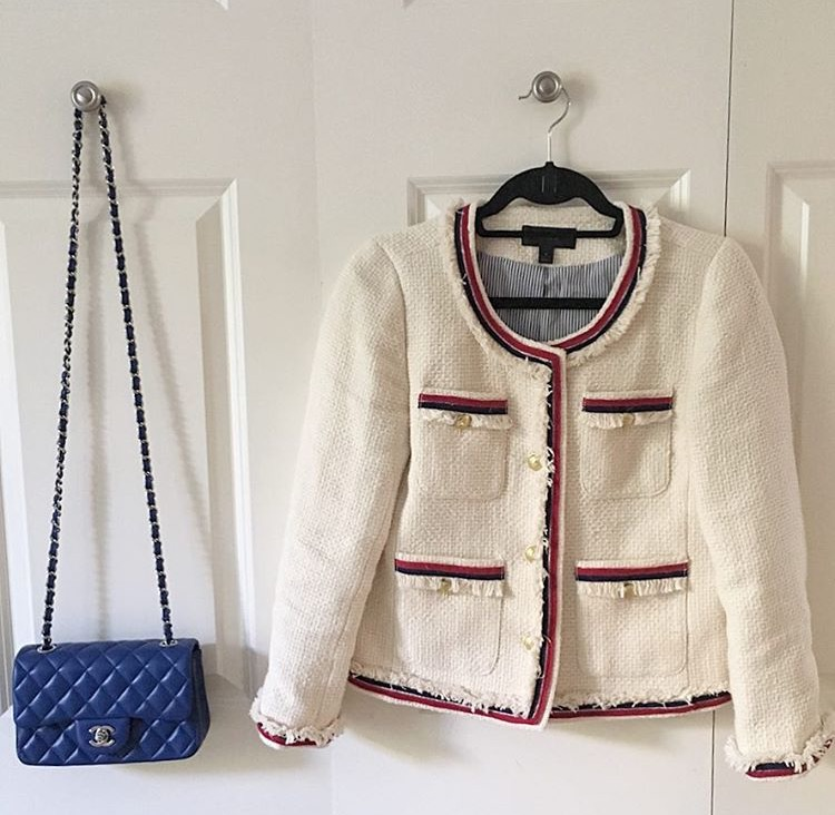 chanel bag and tweed jacket