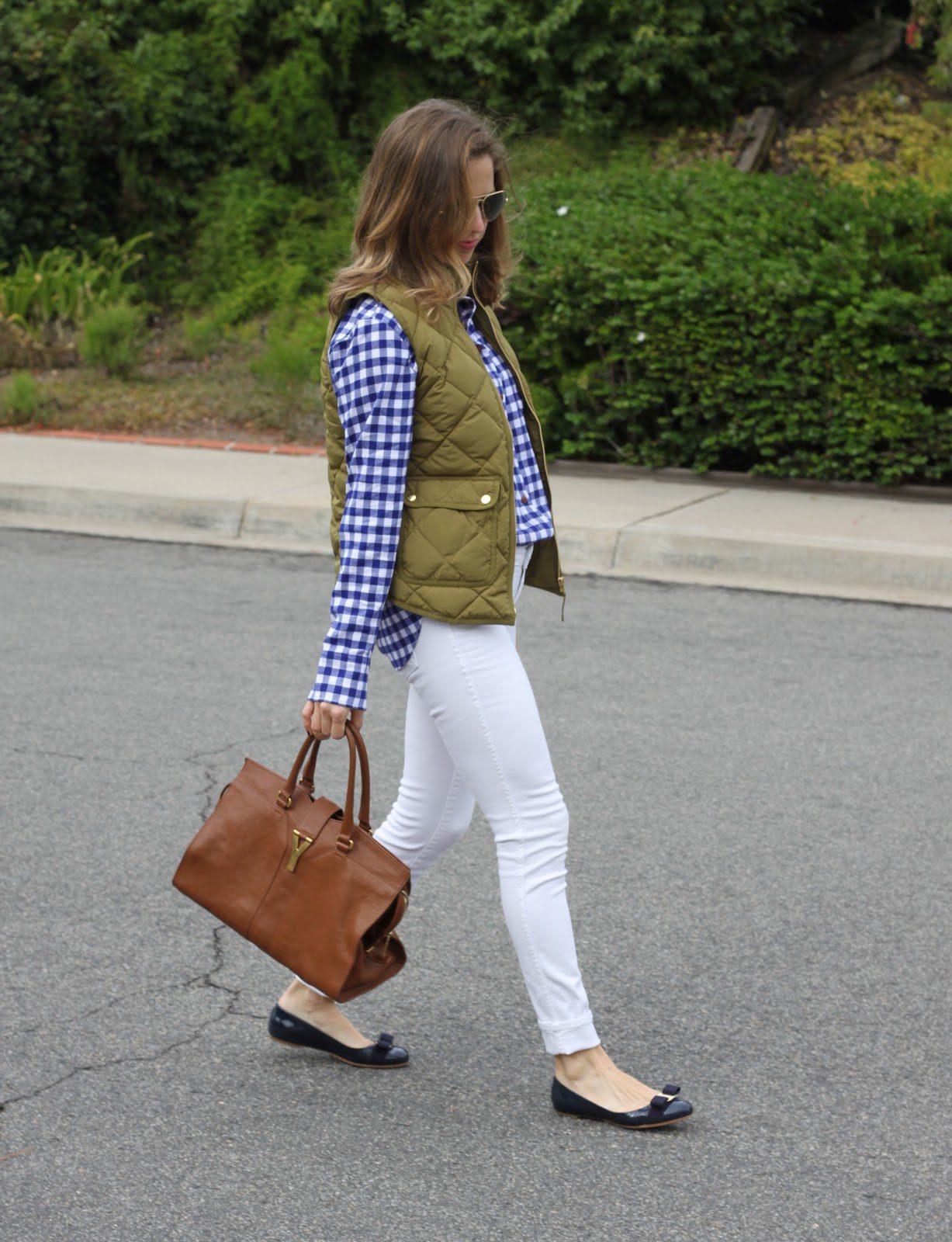 saint laurent, ferragamo varina flat and white skinny jeans