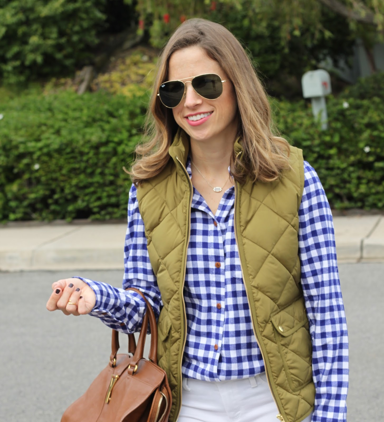 gingham shirt and excursion vest