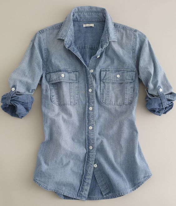best chambray button down
