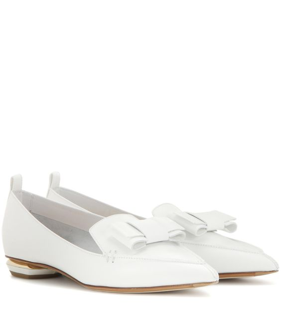 white bow loafers