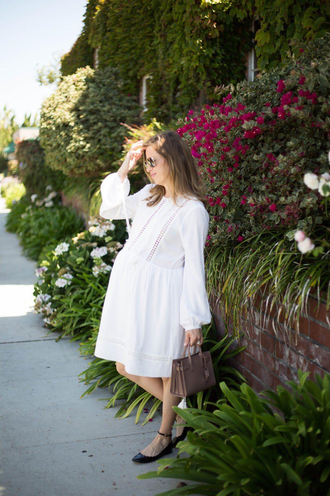 saint laurent bag chloe flats white dress