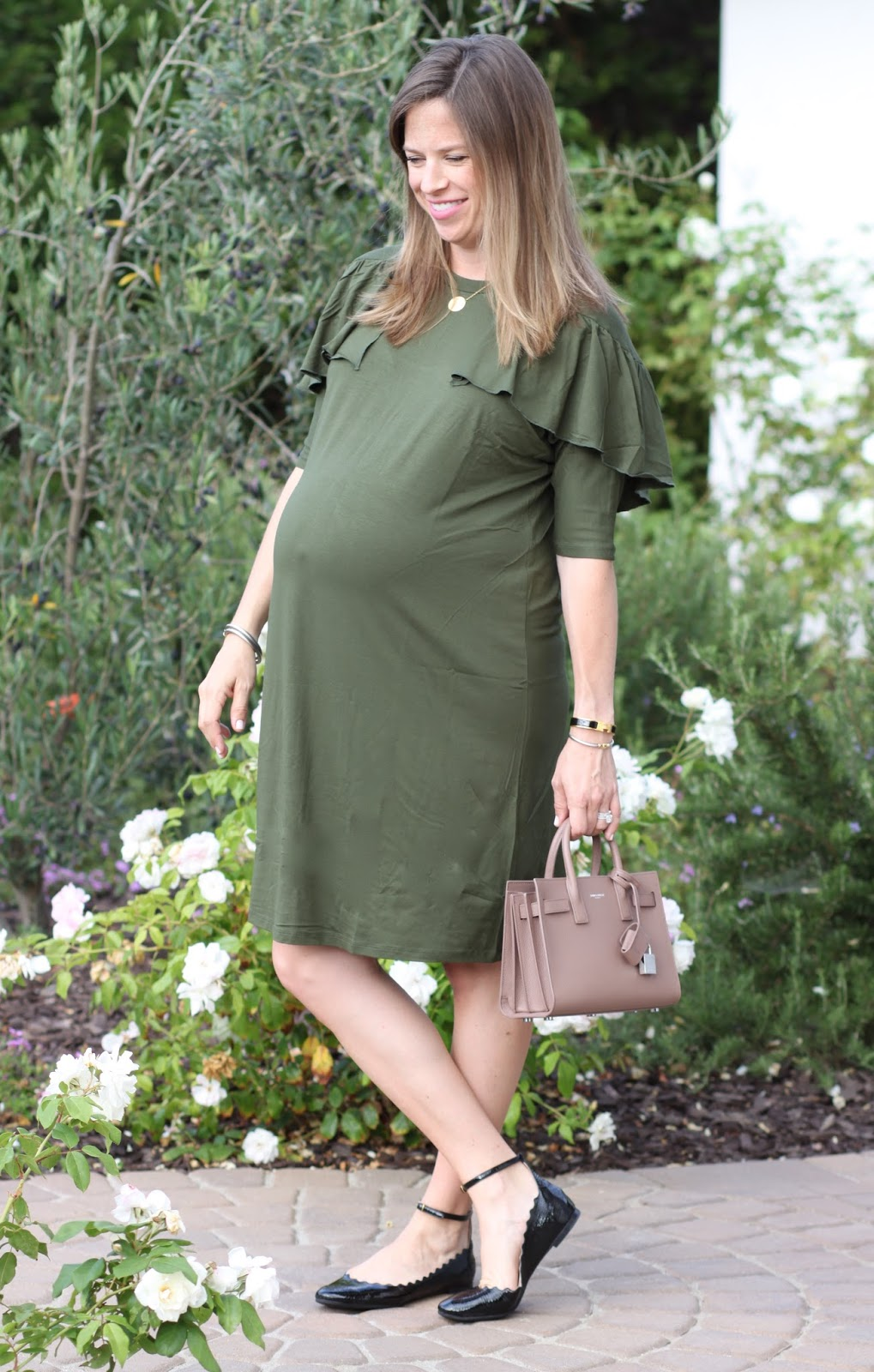 saint laurent bag chloe shoes maternity dress