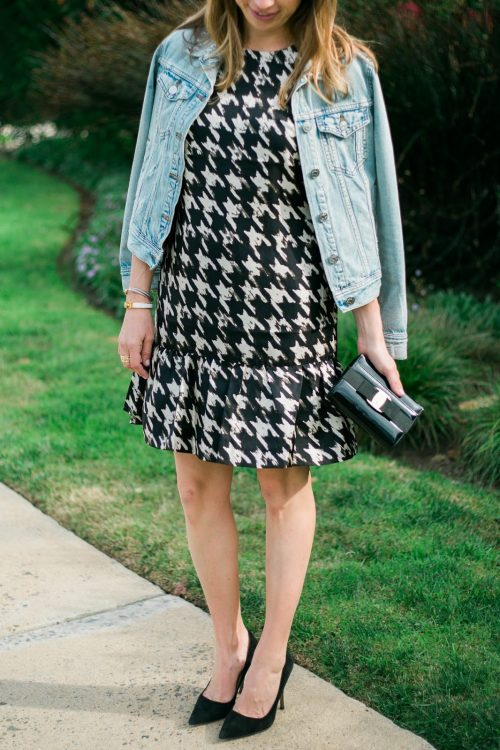 houndstooth ruffle
