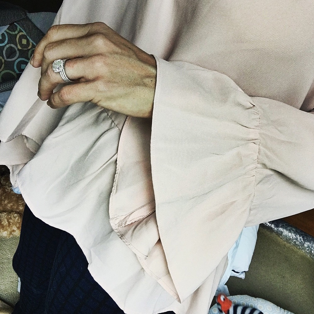 blush bell sleeve