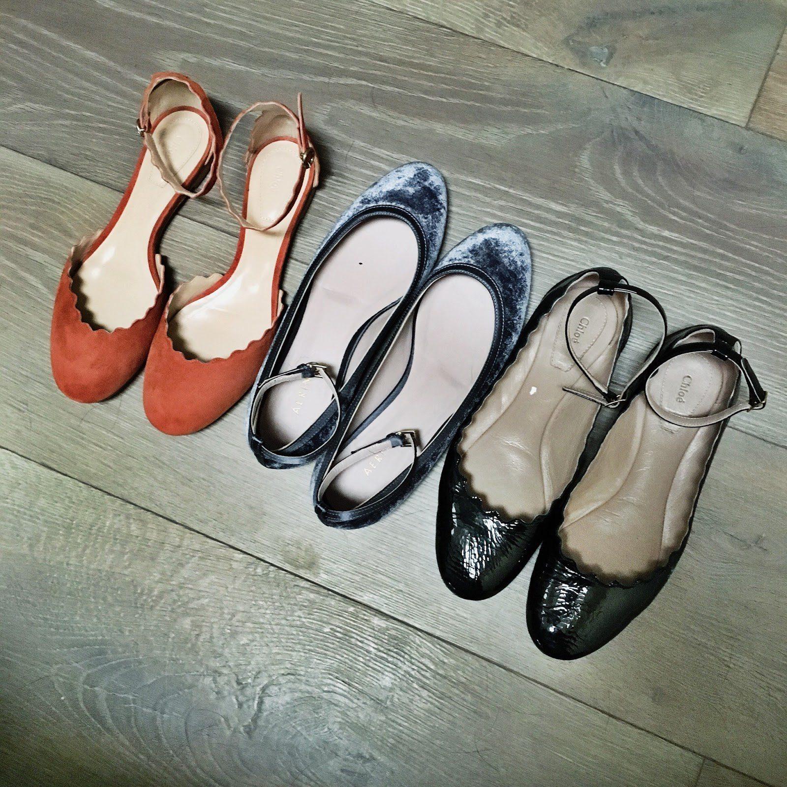 chloe ankle strap flats