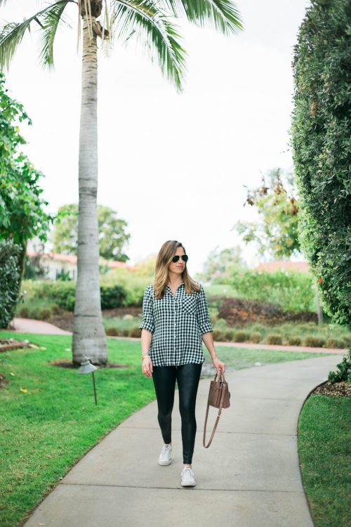 gingham & {faux} leather