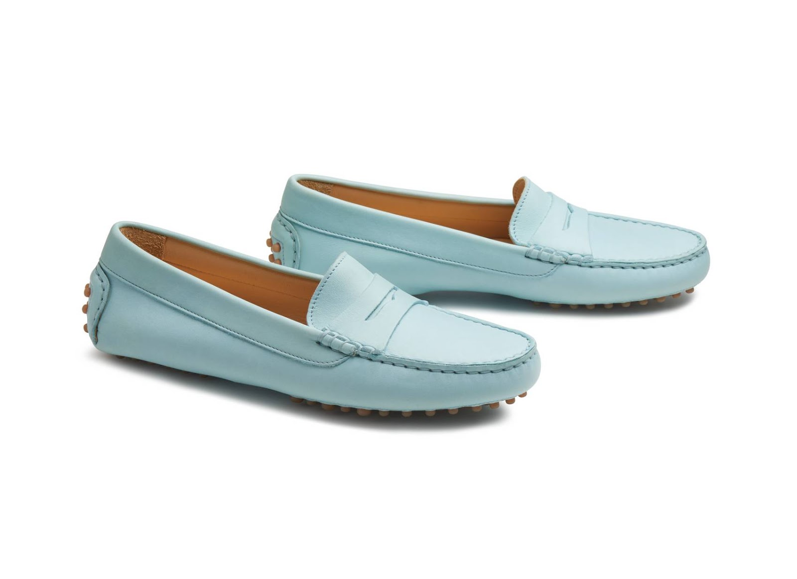 ice blue driving moccasins