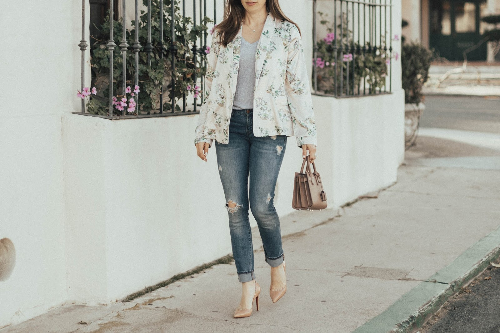 floral jacket outfit