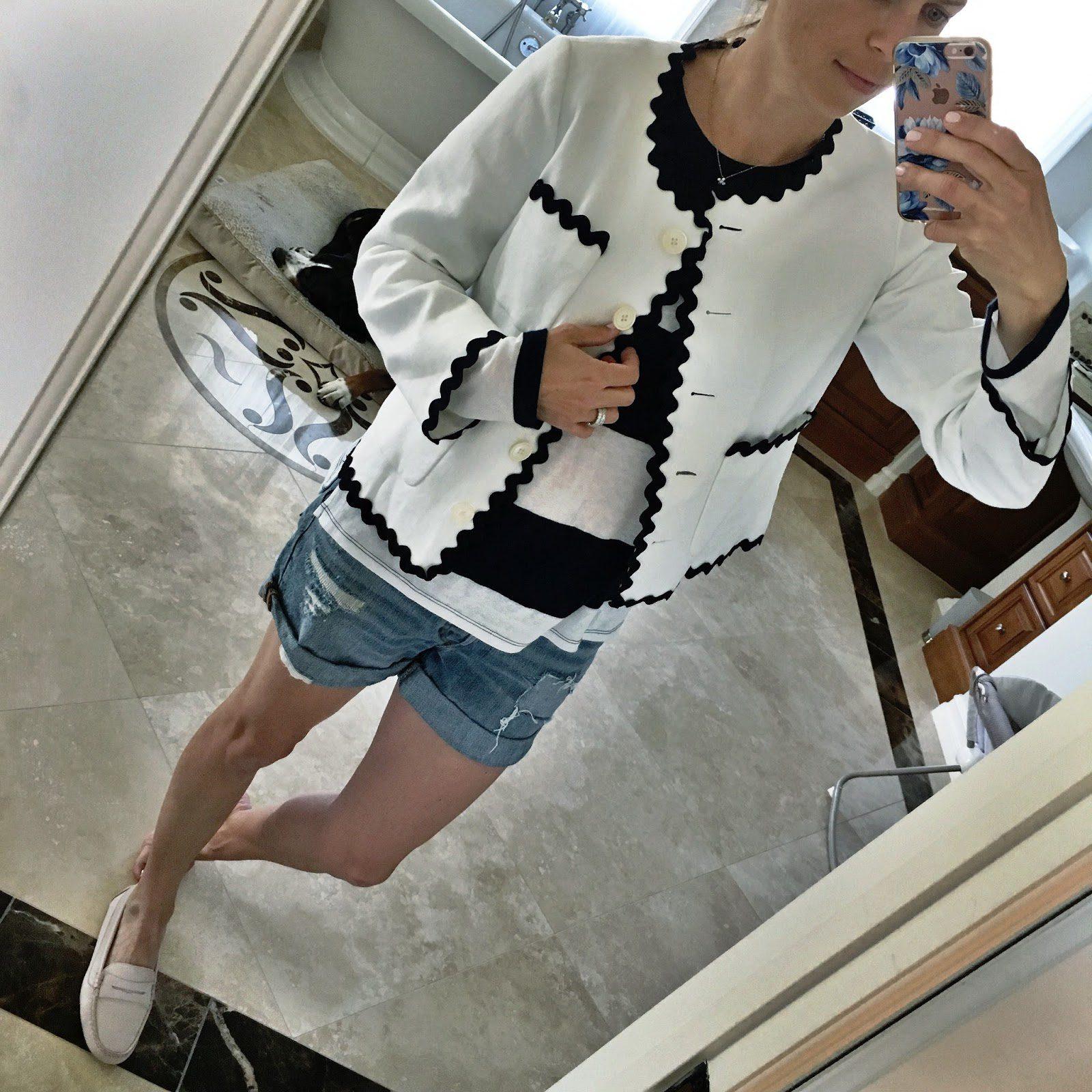 white rickrack jacket
