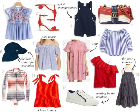 best red, white and blue for moms