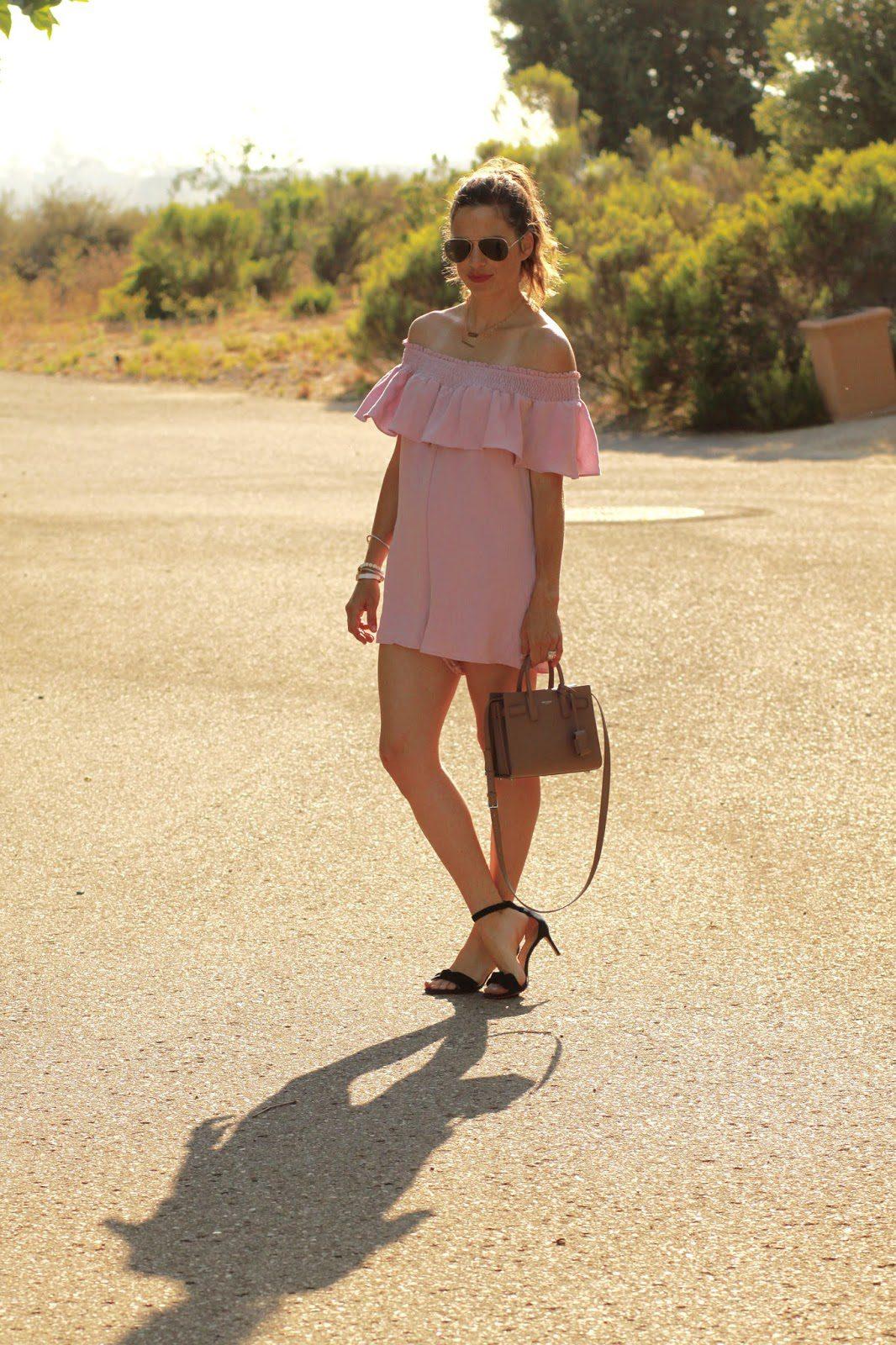 pink ruffle romper