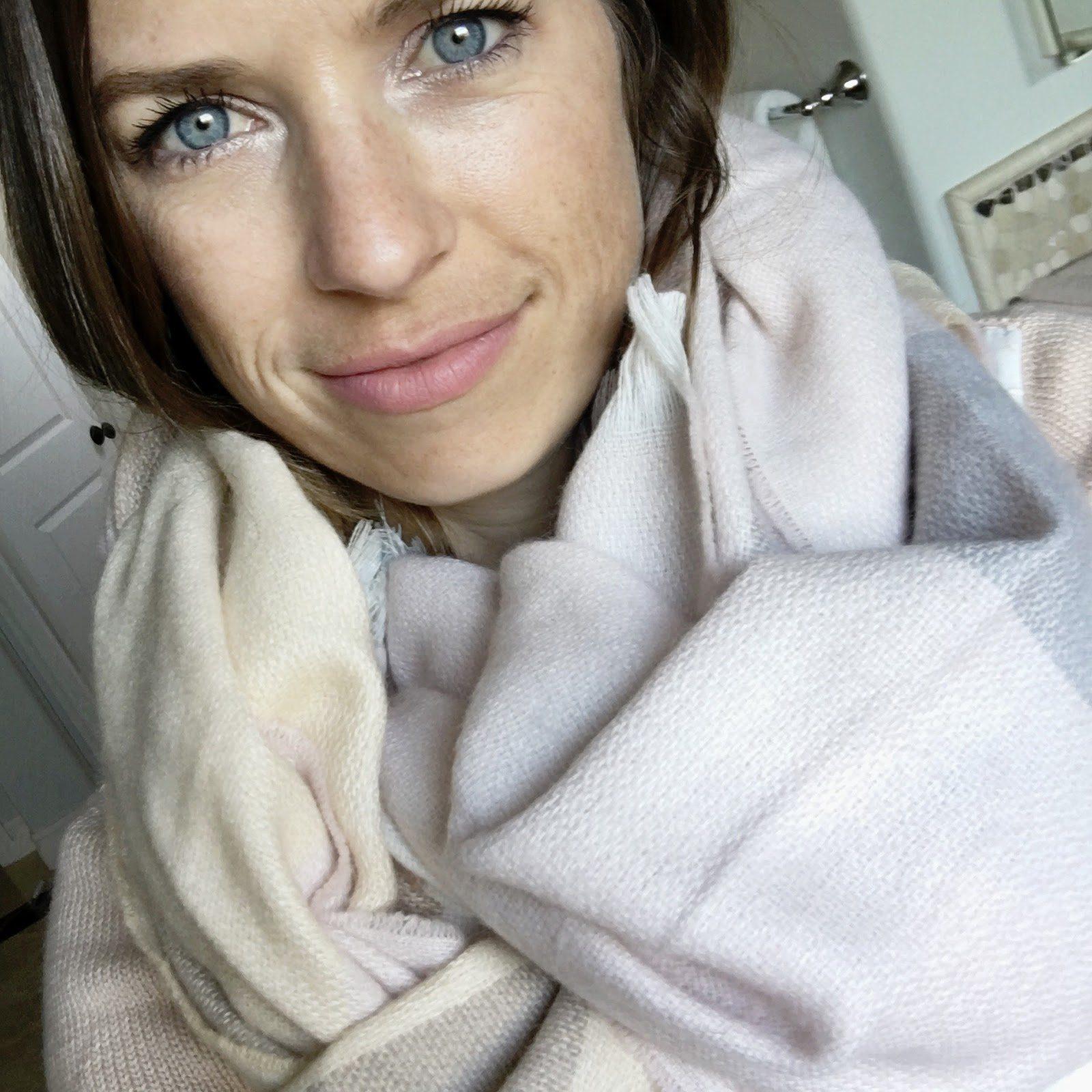 blush blanket scarf