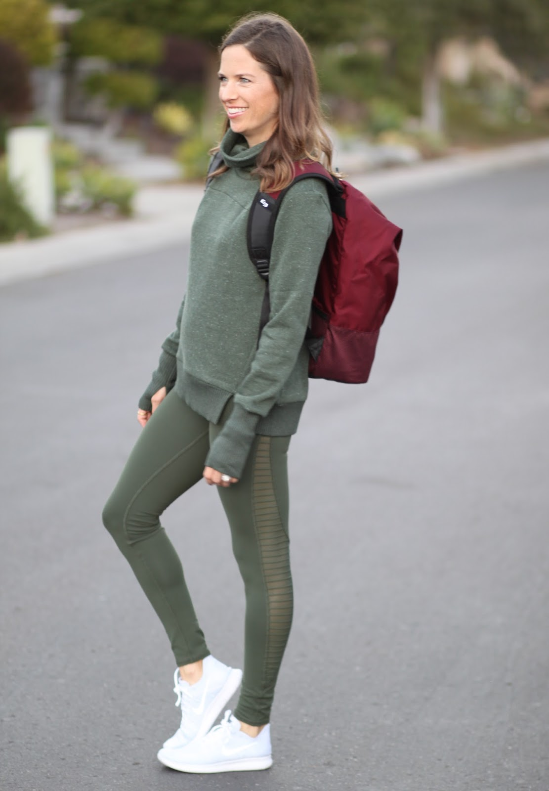 green workout outfit