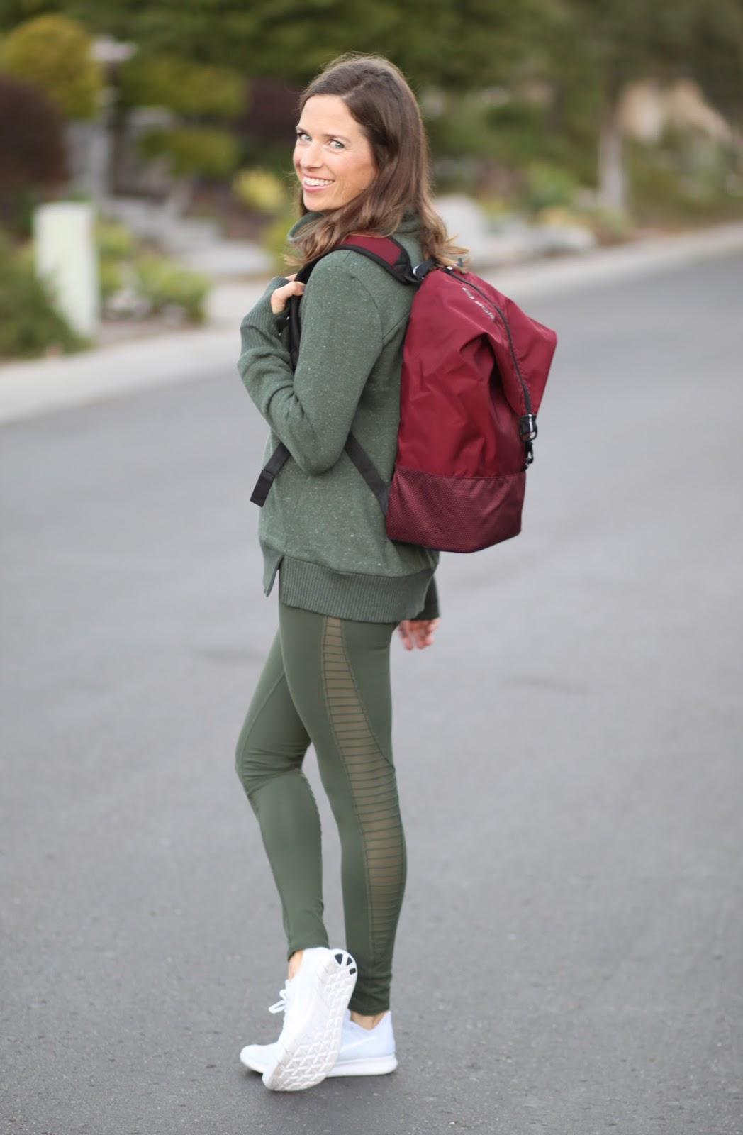 green moto workout legging
