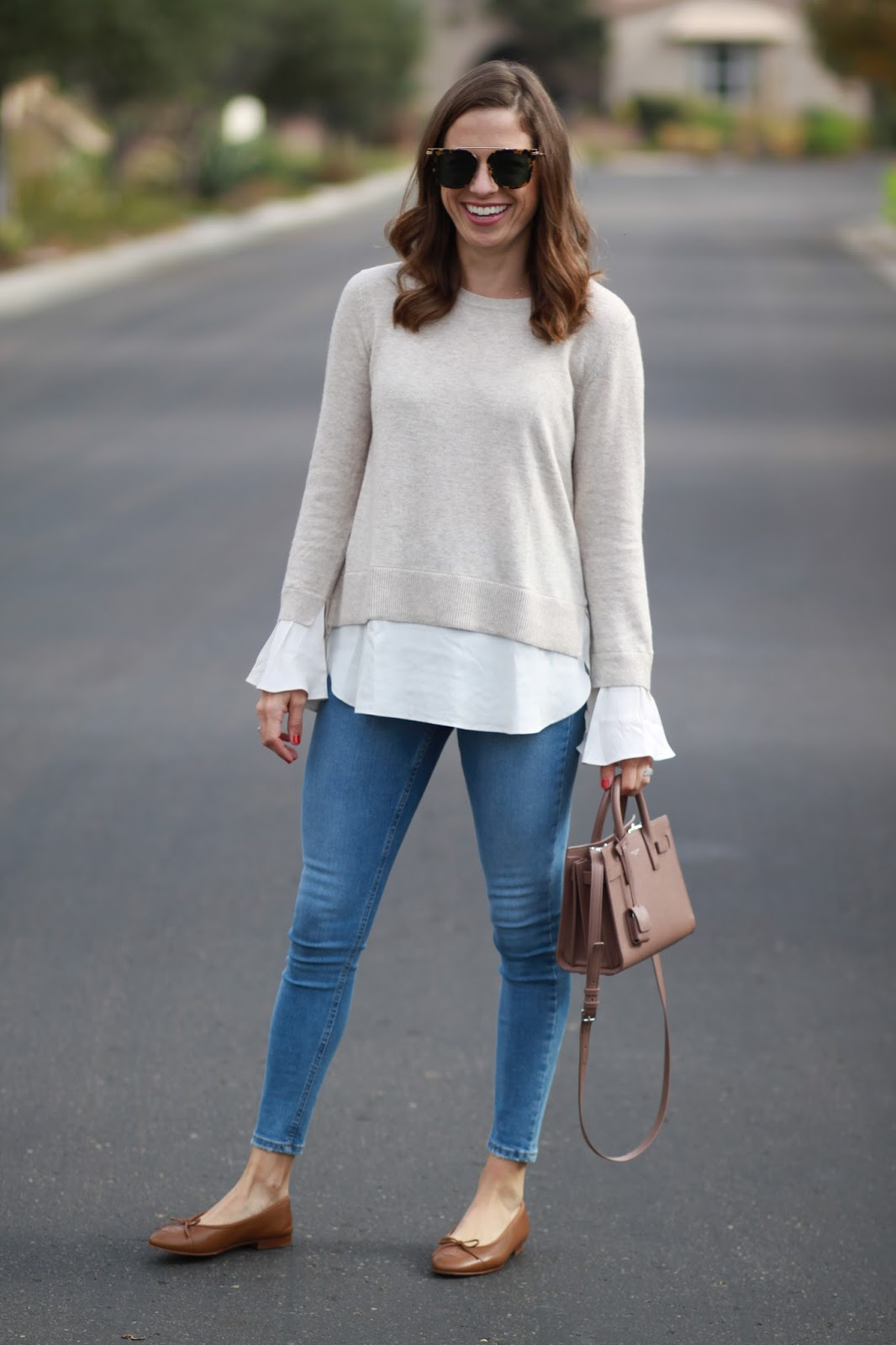 2 in 1 sweater outfit