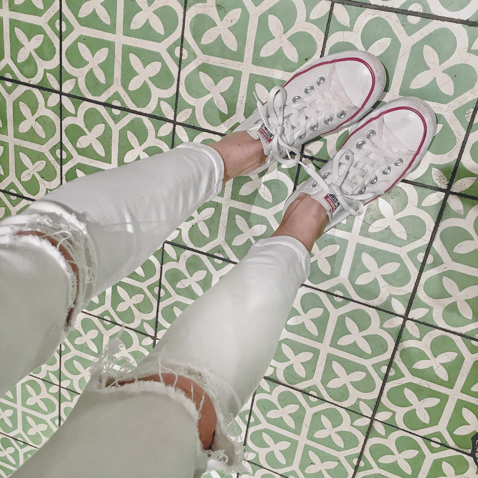 white converse tile photo