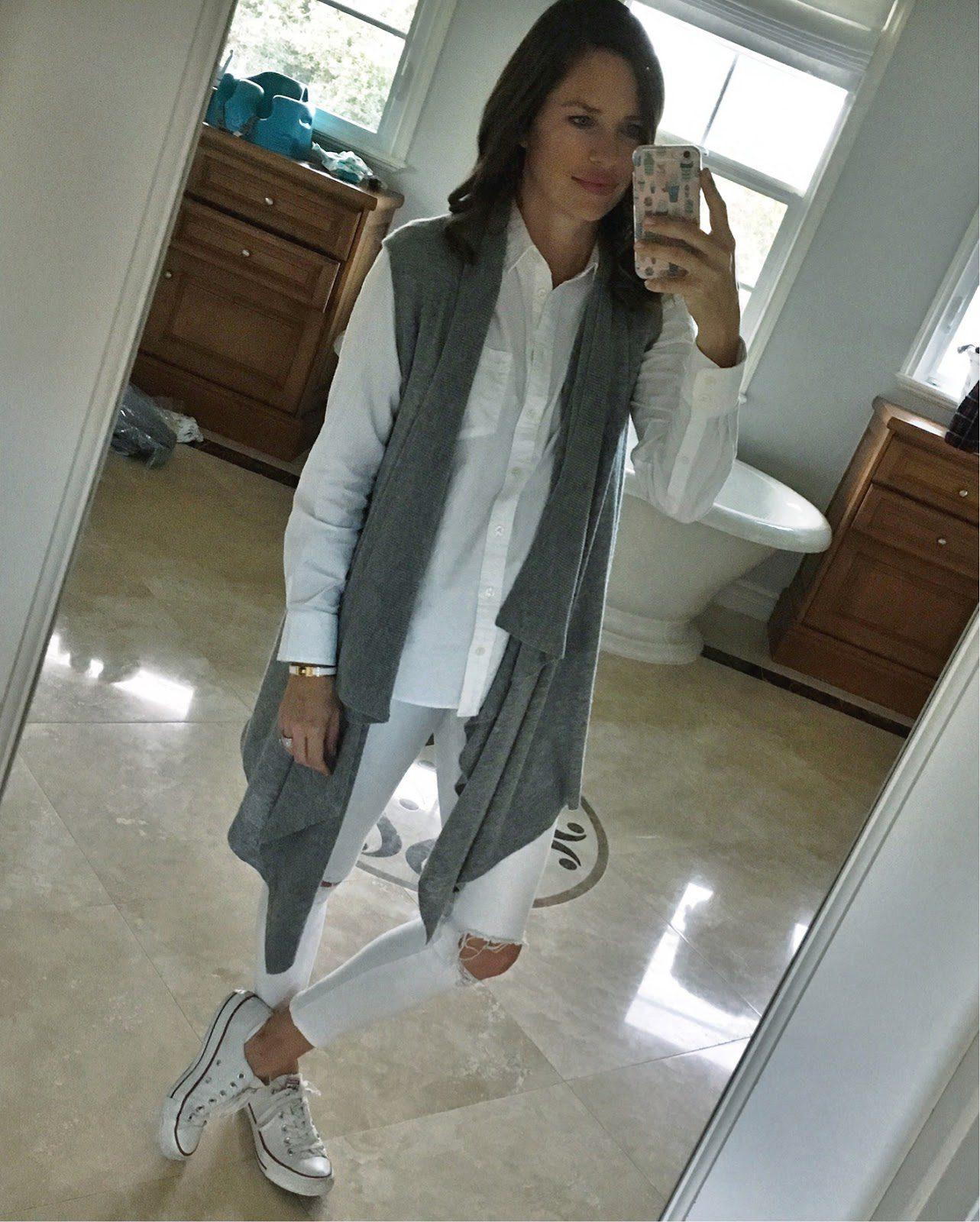 gray cashmere vest