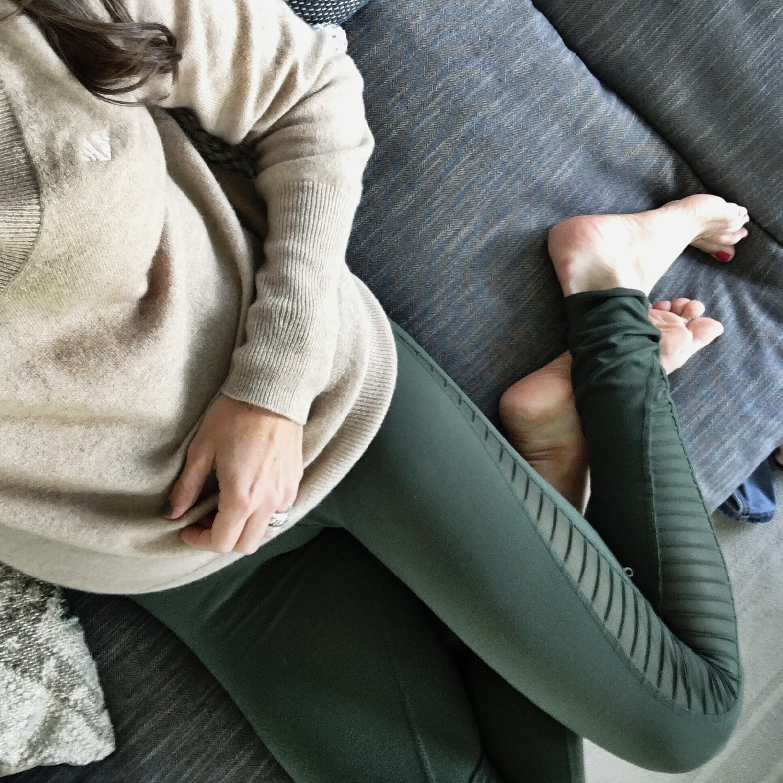 moto leggings and sweater