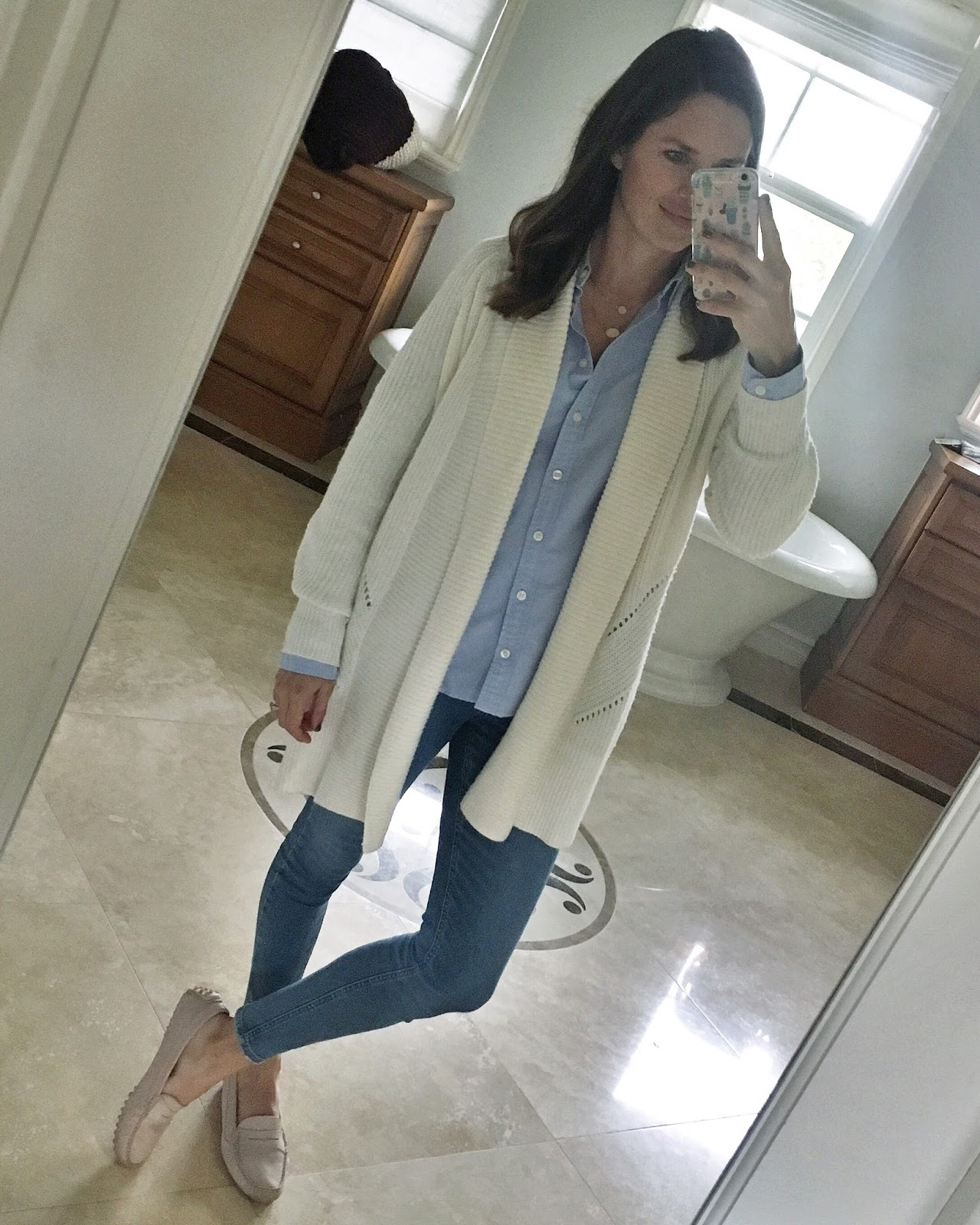 white long cardigan outfit