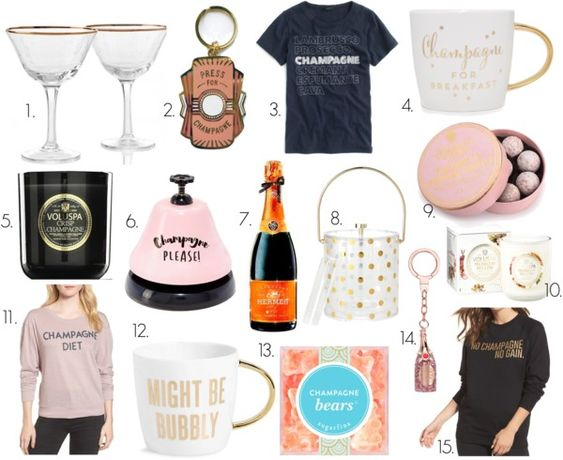 best champagne themed gifts