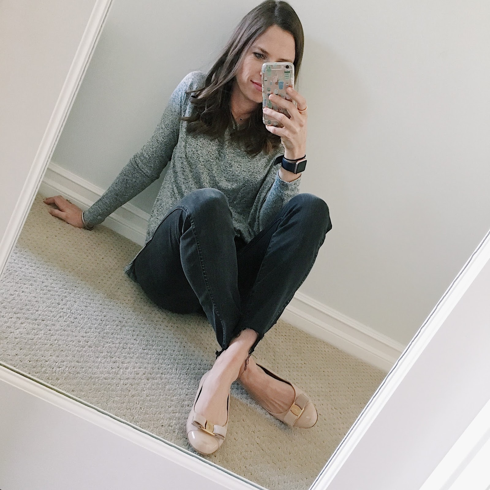 mom outfit selfie